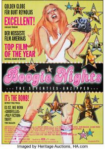 BOOGIE NIGHTS ORIGINAL GERMAN FILM POSTER RARE 1998