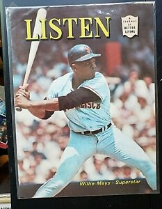 🌟VERY RARE LISTEN A JOURNAL OF BETTER LIVING WILLIE MAYS COVER AUGUST 1967!!