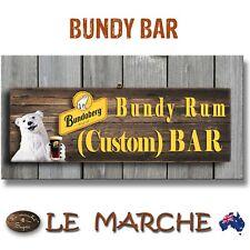 "CUSTOM NAME Bundy Bundaberg Rum Bar Wooden Plaque ""Your Name"" Bundy Bear Bar"