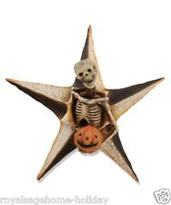 VL4900 Skeleton w/Pumpkin Star Bethany Lowe Happy Wall Mount Hanging Decoration