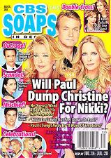 CBS Soaps In Depth July 28 2014 Melody Thomas Scott Doug Davidson Lauralee Bell