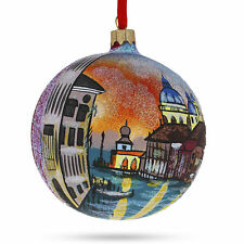Venetia, Italy Glass Ball Christmas Ornament 4 Inches