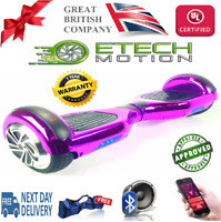 """Chrome Purple Segway Hoverboard LED 6.5"""" Self Balancing Scooter"""