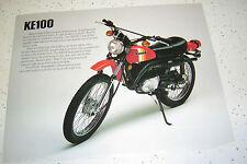 1981 Kawasaki KE100cc Sales Brochure,Genuine NOS, 2Pages.