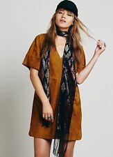 NEW $498 Free People Estella Mod Suede Shift Tunic Dress Size Small