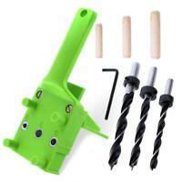 Pocket Hole Jig Set ABS Plastic Woodworking Handheld Jig for 6/8/10mm Drill Bit