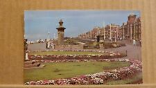 Postcard posted 1962 Lancashire, Blackpool, North Promenade and gardens