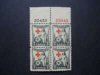 #702 2c Greatest Mother Plate Block EFO Cross Shift Error MNH OG #4