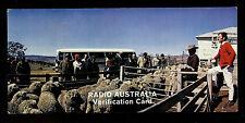 "QSL ""Radio Australia"" 9.580 MHz San Michele Sheep Sta. NSW Shortwave DX SWL 1975"