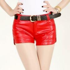 Chic New leisure fashion Womens Ladies PU Washed Leather Shorts Low Waist Shorts
