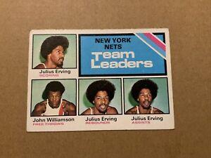1975-76 TOPPS #282 NEW YORK NETS ABA TEAM LEADERS DR J JULIUS ERVING