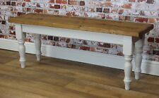 Handpainted ANY Farrow & Ball Colour Solid Wood Wooden Bench Farmhouse