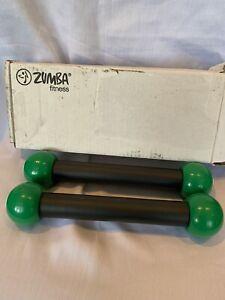 Zumba Toning Sticks Fitness Boxed Kit 2 Black Green Rattle Shakers Toning Sticks