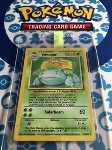Original Big 3 - Base set Venusaur Holo 15/102 Pokemon Card - HP