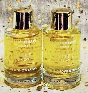 Lot x 2 Aromatherapy Associates REVIVE MORNING Bath & Shower Oil 9ml/0.3oz Each