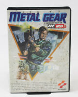 MSX2 METAL GEAR KONAMI MSX Boxed Manual DHL Tracking F/S Tested Working