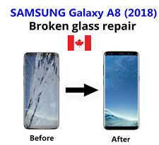 Samsung Galaxy A8 2018 Cracked Glass ONLY/Working LCD mail-in Repair Service