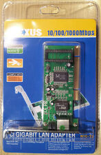 PCI Gigabit Lan Adapter/Ethernet Card: 10/100/1000bps, by plexus BNIB