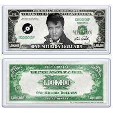 Elvis Presley Million Dollar Bill Music Rock n Roll Collectible with Case
