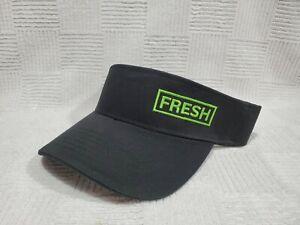 Subway Sandwich FRESH Employee Visor Hat Cap BLACK Adjustable Strap Back NEW