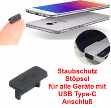 USB 3.1 Type C Staub Schutz Kappe Stöpsel Silikon für HTC 10