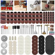 217PCS Dremel Rotary Tool Accessories Kit Sanding Cutting Polishing Grinder Set