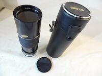 Tamron Vintage 52 mm Auto Camera Lens 1:5.6  f=300 mm W 2 Caps & Case Japan