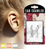 PAIR of Plain Wire Wave Ear Crawler / Climber 20g Earrings - choose color