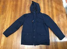*GAP* Men's Navy Blue Hooded PARKA True Indigo Jacket Size M Medium Gap GAP 2016