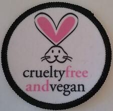 CRUELTY FREE AND VEGAN Patch parche liberacion animal liberation vegetarian peta