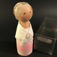 """WOODEN DOLL MADE IN SWEDEN VIMMERBY VINTAGE 5"""" HAND DECORATED"""