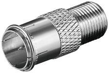 50 x Verbinder F-Quick Stecker > F-Kupplung Kupferausführung
