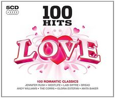 100 HITS-LOVE 5 CD (Miles Davis, Shirley Bassey, Frank Sinatra, Paul Anka) NEU