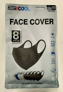 Face Mask Cover 32 DEGREES COOL UNISEX 4 BLACK 3 GREY 1 NAVY  Adult Size