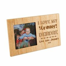 I Love my Granny Personalised Wooden Photo Frame, Birthday or Xmas Gift for Her