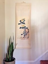 Vintage Chrysanthemum Landscape Flower Nature Chinese Painting Scroll Asian Art