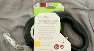 Brand New Good2Go Retractable Dog Leash With Built In LED Flashlight Sz Small