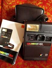 CLEAN!! 1979 Kodak Colorburst 250 Instant Camera w/Manual & Case