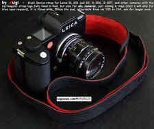 LUIGI GENIUS WIDE STRAP 4 LEICA SL 601,S2,RECTANGULAR LUGS,BLACK,FULLY LINED RED