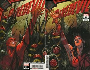 2x DAREDEVIL #26 A FIRST PRINT ELEKTRA VARIANT DAREDEVIL CHIP ZDARSKY MARVEL HOT