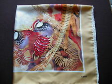 Royal Society Protection.Birds.  Large Square Pure Silk Scarf ~ Golden Pheasants