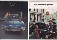 Two 1970 CHEVROLET US Brochures IMPALA CAPRICE BEL AIR and Wagons