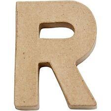 Small Paper Mache Capital Letter 'R' Approx 10cm