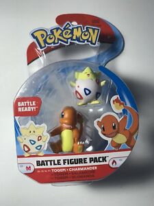 NIB Pokemon Battle Togepi & Charmander Action Minifigure Figure Pack Toys