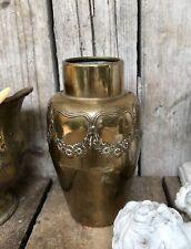 Antik WMF Straussenmarke Vase Pokalvase Pokal Messing Jugendstil