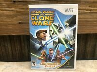 Star Wars: The Clone Wars Lightsaber Duels - Nintendo Wii -COMPLETE - TESTED #4