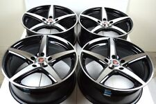"4 New DDR ST1 17x7.5 5x114.3 38mm Black/Machined Face 17"" Wheels Rims"