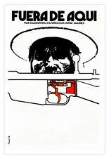 Movie Poster 4 Ecuador-Bolivia film.FUERA de aqui.Home interior Graphic arts.