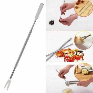 5Practical Olive Seafood Crab Lobster Fork Pick Handy Helper D9V2 Needle B3Z1