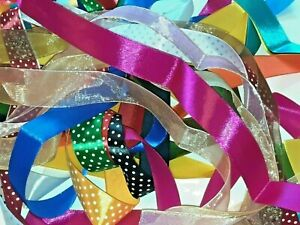 10M x 1Mtr Mixed Ribbon Bundle Trimming Mixed Wrapping Craft Sewing Off Cuts